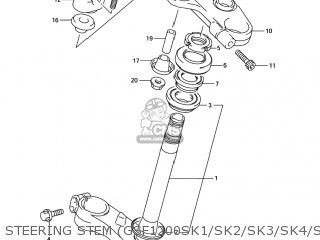 Suzuki GSF1200S BANDIT 2002 (K2) USA (E03) parts lists and