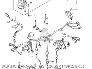 Suzuki GSF1200S BANDIT 2005 (K5) USA (E03) parts lists and