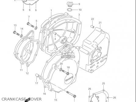 Suzuki Gsf1200 ,s,z Bandit 2001-2005 (usa) parts list