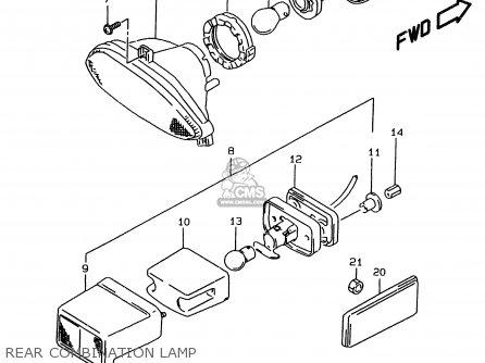 Suzuki Gsf1200sa 1996 (t) parts list partsmanual partsfiche