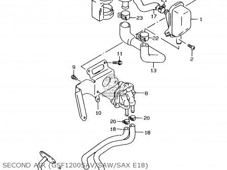 Suzuki GSF1200SA 1996 (T) parts lists and schematics