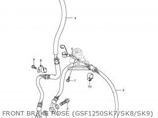 Suzuki GSF1250S BANDIT 2007 (K7) USA (E03) parts lists and