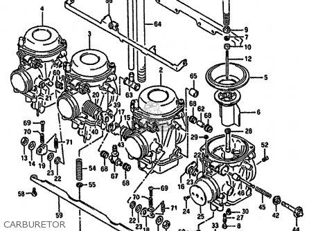 Suzuki Gsf400 1991 (m) parts list partsmanual partsfiche