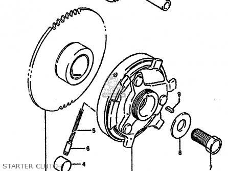 Suzuki Gsf400 1992 (n) parts list partsmanual partsfiche