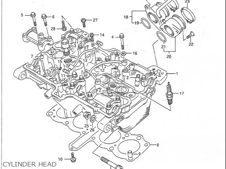 Suzuki Gsf400 Bandit 1991-1993 (usa) parts list
