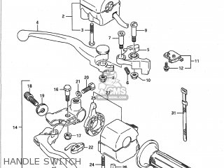 Suzuki Gsf400 Bandit 1991 (m) Usa (e03) parts list