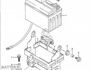 Suzuki GSF400 BANDIT 1992 (N) USA CALIFORNIA (E03 E33