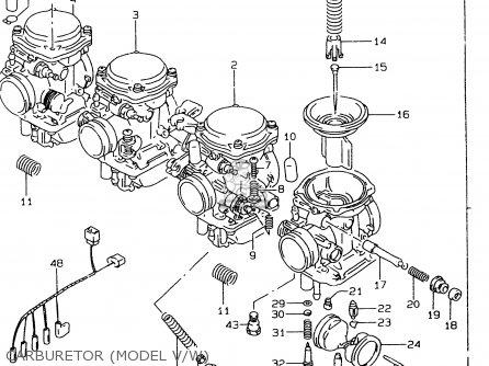 Suzuki Gsf600 1995 (s) parts list partsmanual partsfiche