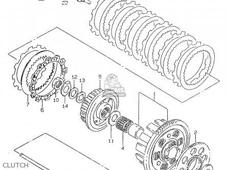 Suzuki Gsf600 1997 (v) parts list partsmanual partsfiche