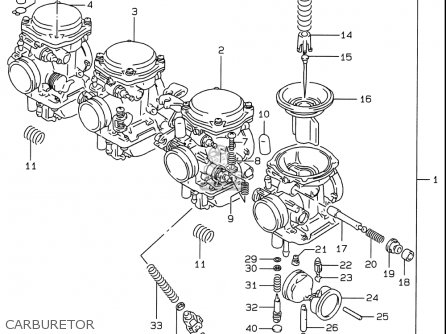 Suzuki Gsf600 S Bandit 1996-1999 (usa) parts list
