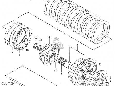 Suzuki Gsf600 S Bandit 1996-1999 (usa) parts list