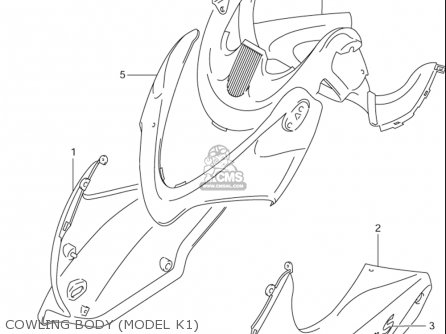Suzuki Gsf600 S Bandit 2000-2003 (usa) parts list