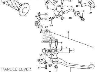 Suzuki Gsf600s Bandit 1996 (t) Usa (e03) parts list