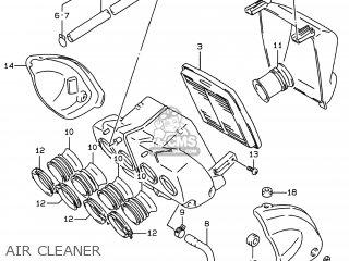 Suzuki Gsf600s Bandit 1997 (v) Usa (e03) parts list