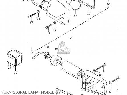 Suzuki Gsf600su 1997 (v) Germany (e22) parts list
