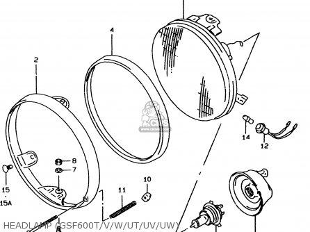Suzuki GSF600U 1997 (V) GERMANY (E22) parts lists and