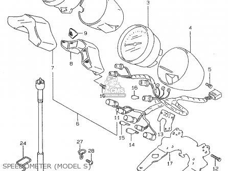 Suzuki Gsf600u 1997 (v) Germany (e22) parts list