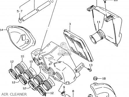 Suzuki Gsf600u 1999 (x) Germany (e22) parts list