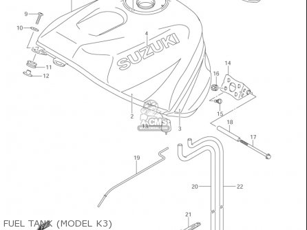 Suzuki Gsx-r1000 ,z 2003-2004 (usa) parts list partsmanual