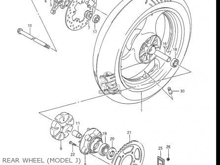 Suzuki Gsx-r1100 1986-1988 (usa) parts list partsmanual
