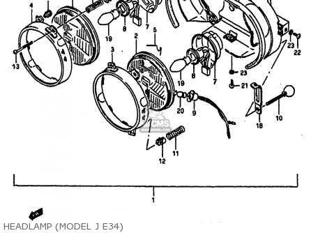 Suzuki Gsx-r1100 1986 (g) parts list partsmanual partsfiche