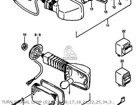 Suzuki Gsx-r1100 1987 (h) parts list partsmanual partsfiche