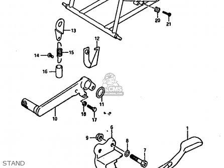 Suzuki Gsx-r1100 1989 (k) parts list partsmanual partsfiche