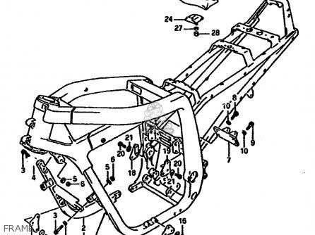 Suzuki Gsx-r1100 1990 (l) parts list partsmanual partsfiche