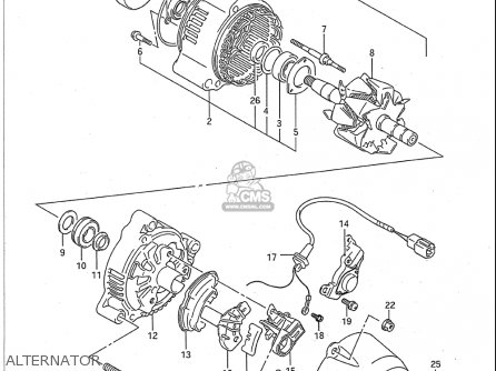 Suzuki Gsx-r1100 1991-1992 (usa) parts list partsmanual