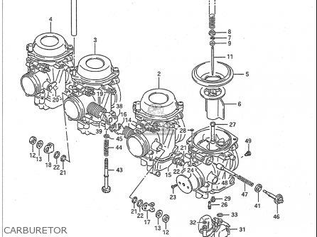 Suzuki Gsx-r1100 1991-1992 (usa) parts list partsmanual
