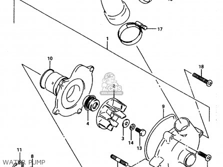 Suzuki Gsx-r1100 1993 (wp) parts list partsmanual partsfiche