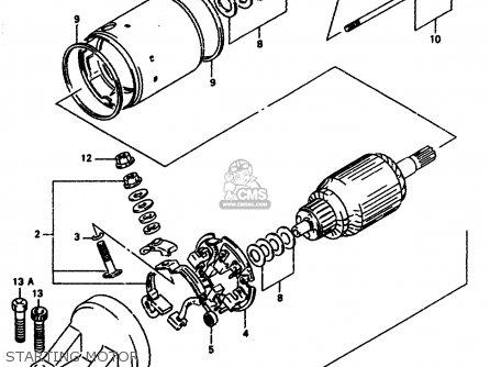 Suzuki Gsx-r1100 1995 (ws) parts list partsmanual partsfiche