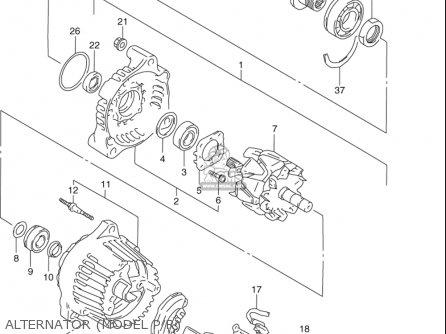 Suzuki Gsx-r1100 W 1993-1998 (usa) parts list partsmanual