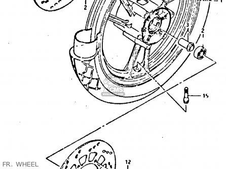 Suzuki Gsx-r400 1987 (h) parts list partsmanual partsfiche