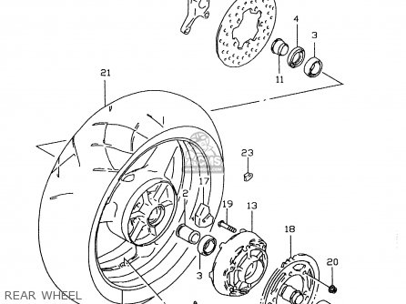 Suzuki Gsx-r600 1998 (w) parts list partsmanual partsfiche