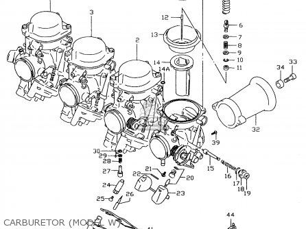 Suzuki Gsx-r600 1999 (x) parts list partsmanual partsfiche