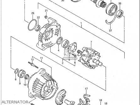Suzuki Gsx-r600 W 1992-1993 (usa) parts list partsmanual