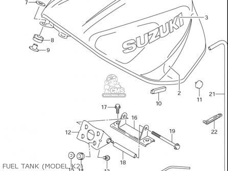 Suzuki Gsx-r600 ,z 2001-2003 (usa) parts list partsmanual