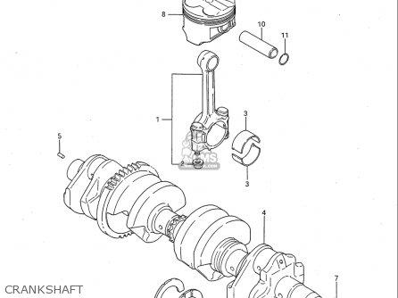 Suzuki Gsx-r750 1986-1987 (usa) parts list partsmanual