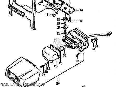 Suzuki Gsx-r750 1986 (g) parts list partsmanual partsfiche