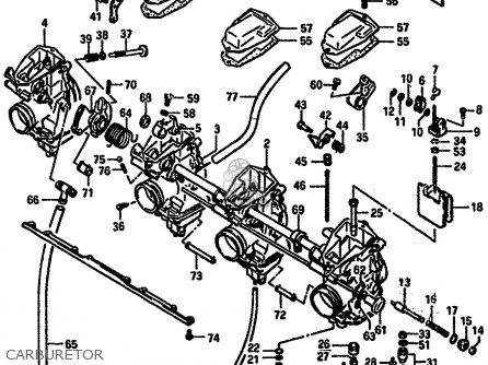 Suzuki Gsx-r750 1987 (h) parts list partsmanual partsfiche