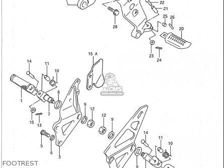 Suzuki Gsx-r750 1988-1990 (usa) parts list partsmanual
