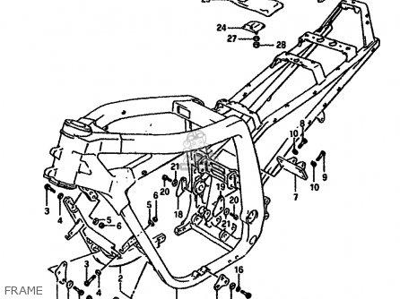 Suzuki Gsx-r750 1989 (k) parts list partsmanual partsfiche