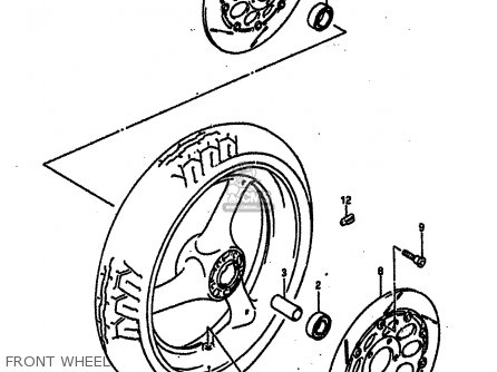 Suzuki Gsx-r750 1989 (rk) parts list partsmanual partsfiche