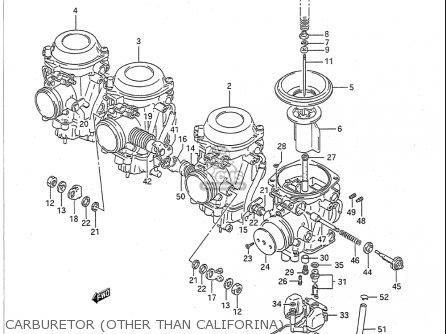 Suzuki Gsx-r750 1991-1992 (usa) parts list partsmanual
