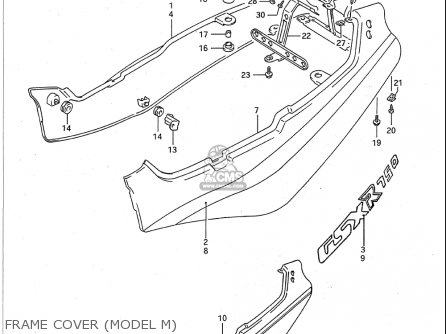 Suzuki Gsx-r750 1991-1992 (usa) parts list partsmanual