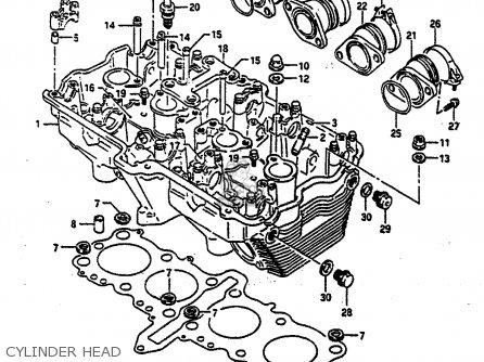 Suzuki Gsx-r750 1991 (m) parts list partsmanual partsfiche