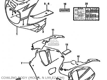 Suzuki Gsx-r750 1993 (wp) parts list partsmanual partsfiche