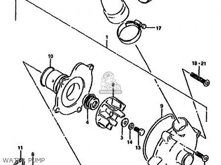 Suzuki Gsx-r750 1994 (wr) parts list partsmanual partsfiche