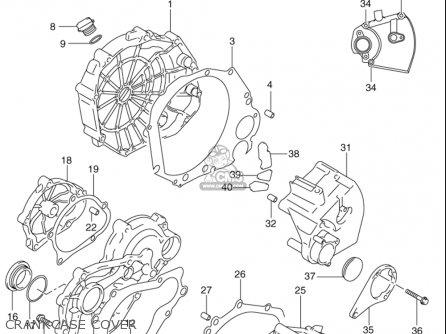 Suzuki Gsx-r750 2000-2003 (usa) parts list partsmanual